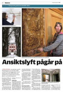Mariestads Tidning artikel Ansiktslyft pågår 1
